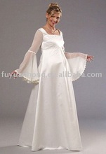 wedding dresses for pregnant women/bridal wedding gown/FYH-WD1032