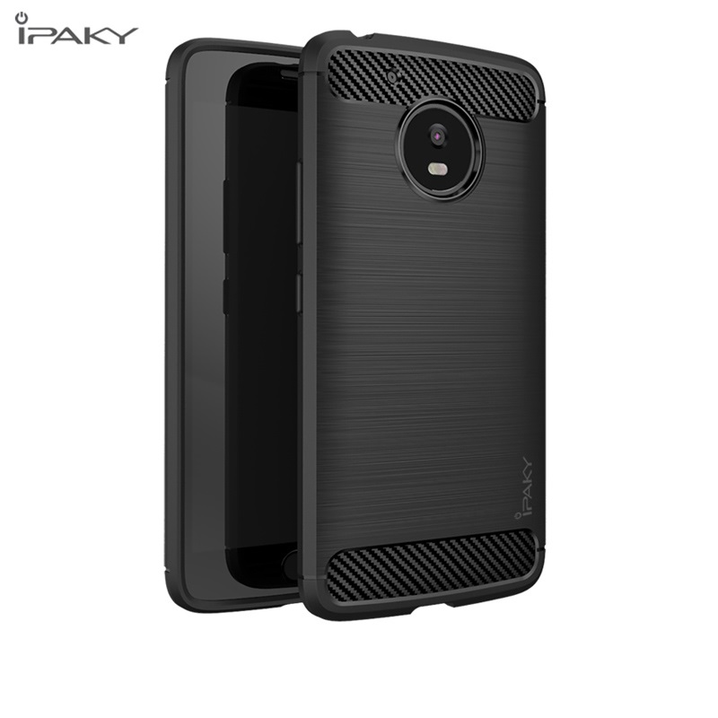 Ipaky Original Premium Soft Silicone Silicon Rubber TPU Phone Skin Cover Case For Moto M G G5 G4 Plus Play