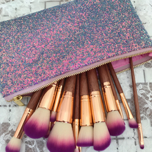 17pcs private label makeup brush wood handle Concealer powder eyeshadow eyeliner lip eyebrow kubaki brush with cosmetic case