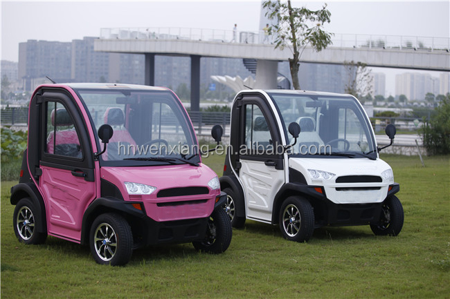 China Mini Electric Cars Red Golf Cars Small Electric Car With Air