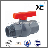 "Durable modeling hot sale hydraulic fittings mini pvc threaded ball valve 1/2"" 20mm"