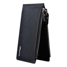 2018 In Stock Large Capacity Men Wallets Long Style Snap Button MultiFunction Zipper Phone Bit Credit Card Holder Purse Wallet