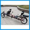 Lithium Battery Three Wheel Electric Recumbent Bike for Two Person