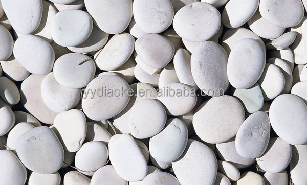 Landscaping pebbles stones white gravel pebble stone
