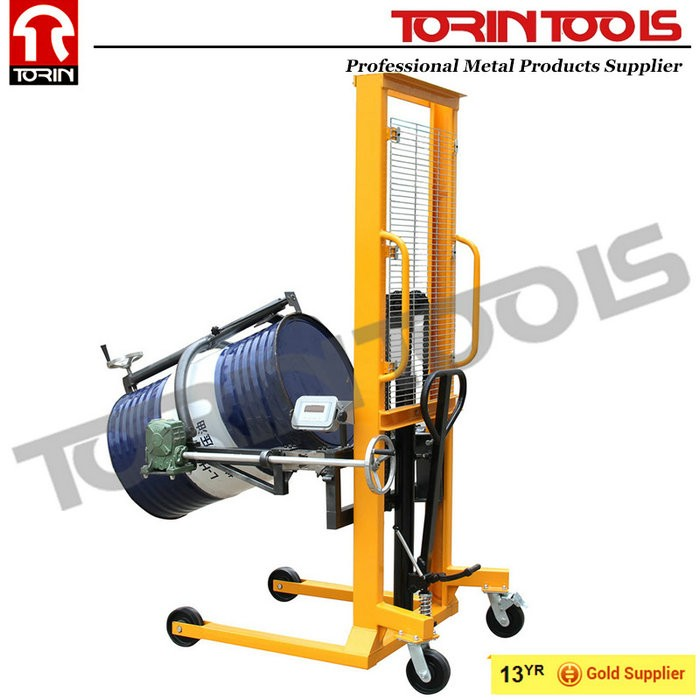Competitive Manual Standard Drum Lifter Price With Four Wheels