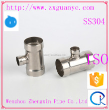 Stainless Steel Socket Weld Reducer Tee Pipe Fitting