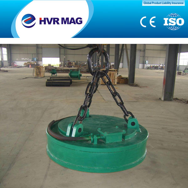Lifting Magnet 2016 HOT SALE MW5 steel scrap electromagnet lifter used with excavator