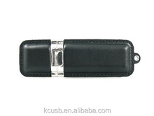 Leather and metal custom logo usb 2.0 flash memory thumb drives