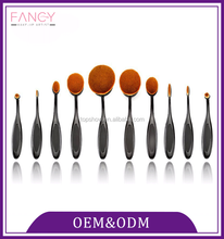 High quality 10pcs make up brushes set private label customized design oval makeup brush