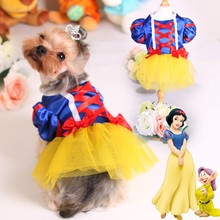 Fashion Dress Snow White Wedding Dress Dog Clothes Dog Apparel For Pets Wholesale Pet Clothes Pet Products