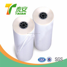 China Soft Clear Transparent Hot Melt Adhesive Membrane / Plastic Laminating Roll for Sticker