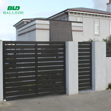 Aluminum luxury garden waterproof wooden fence slats