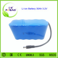 Lifepo4 26650 3.2v 30ah rechargeable lithium lifepo4 battery pack