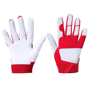 Genuine leather youth baseball batting gloves