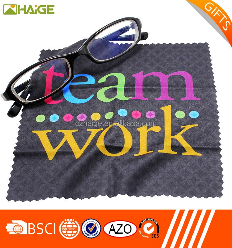 silk logo screen printed microfiber cleaning cloths for computer /laptop screen , eyewear lens cloth