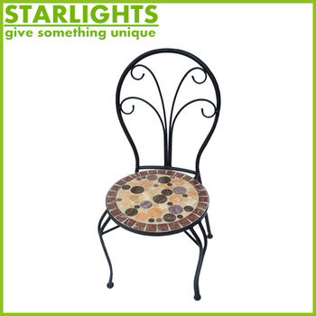 Outdoor Metal Folding Backrest Chairs for Garden