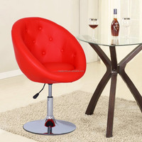 Leather modern swivel leisure chair lounge chair / Red Adjustable 24 inch bar stools CL - 7060 Excluding EU Market