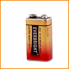 Zn/mno2 Professional 9V battery 6F22 manufacturer