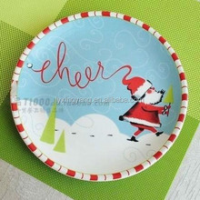 Christmas decoration ceramic wall plate