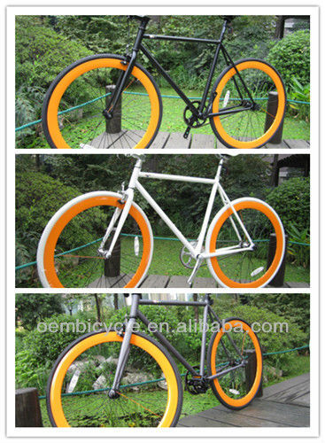 700C with black frame and orange rims hot sale specialized road bike complete