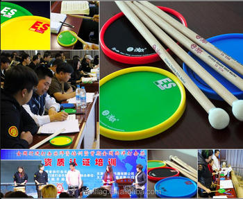 "wholesale easy stick musical instruments for students 6"" practice silicone drum pad"