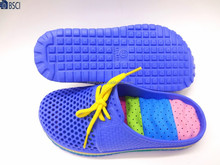 summer newest design breathable and lace-up eva slipper massage eva insole shoes clogs