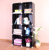 8 cubes pp plastic material modern appearance bookcase free standing bookshelves designer bookcase designs FH-AL0030