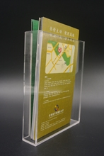 Brochure display acrylic a5 brochure holder stand