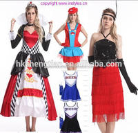 Halloween Carnival walson Queen of Hearts Fancy Dress Costume Alice In Wonderland Costume