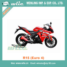Popular pocket bike pizza cheap motorcycle EEC Euro4 Racing Motorcycle R15 Water cooled EFI system (Euro 4)