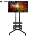 TV Cart TV Trolley 360 Degree Rotating TV Stand For Lcd Led Oled Plasma Flat Panel Screens
