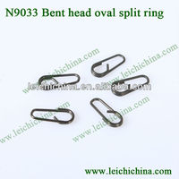 carp fishing terminal tackle Bent head oval split ring