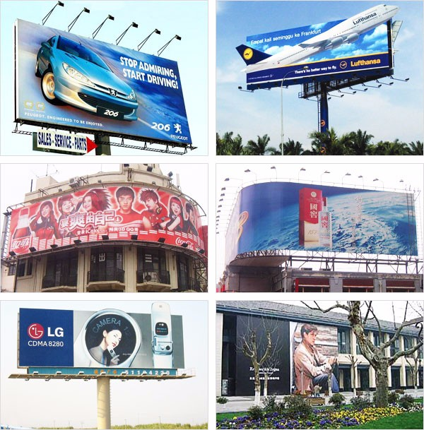 "(320gsm-840*840-6*6) Glossy Laminated Frontlit Grey Back PVC Flex Banner 125.9"" (3.2m)"