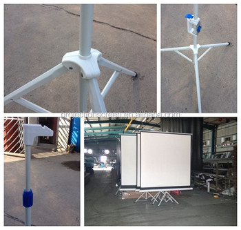 tripod standing projection screen