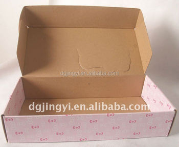 Customized Recycle corrugated carton express box for ebay sellers or shop owner