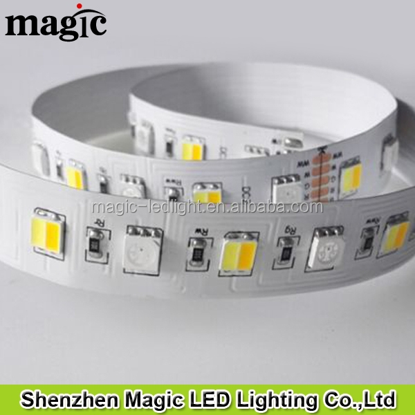 72leds/m SMD5050 24V 23W/M 5 channel RGB+Color Temperature adjustable programmable w/ww LED Strip