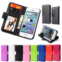 Hot Wallet Case for iPhone 5 5S 5G/ for iphone SE Magnetic Flip PU Leather Case with Photo Frame Card Holder Smart Stand Cover
