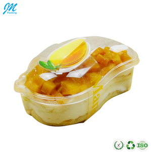 Hot sale beautiful original clear plastic salad fruit packaging box