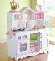Black Color Wooden Children Big Kitchen