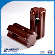 54-4 porcelain electrical Factory direct sale OEM size strain stay brown ceramic insulator