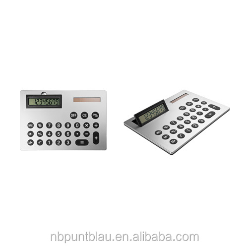 solar calculator with 8 digits size A4 in cardboard box