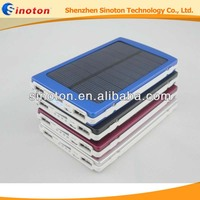 OEM 10000Mah High Capacity Solar charger for ipad , iphone