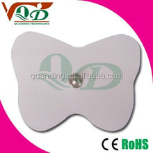 Snap 3.5mm butterfly self adhesive tens electrode/tens massage acupuncture device electrode pad