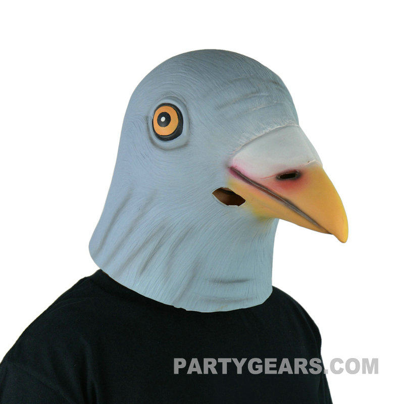 100% latex Halloween animal pigeon head mask for funny party
