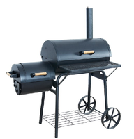 2016 Powder Coated Pellet Fired BBQ Smoker for US Market