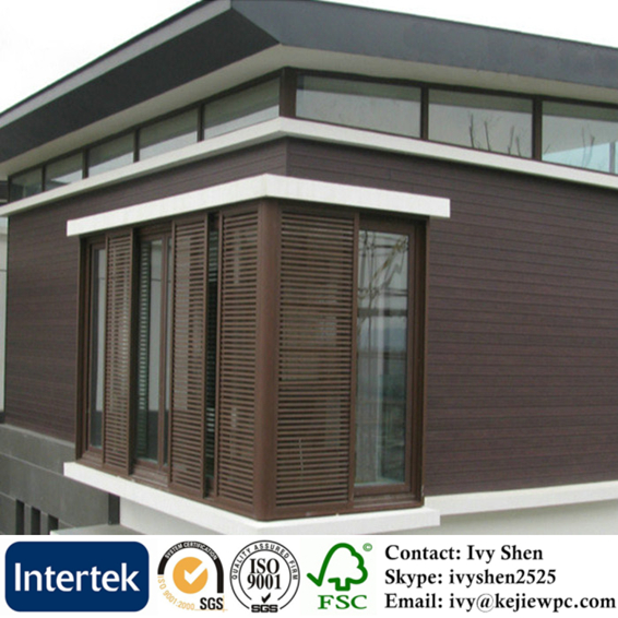 Wood plastic composite wall cladding for exterior wall water proof panel timber like facade for Composite wood panels exterior