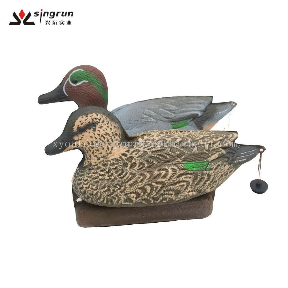 Wholesale Pair Floating Green-winged Teal Duck Decoys for Duck Hunting-Hen and Drake