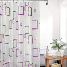 Printed peva ripstop selection shower curtain