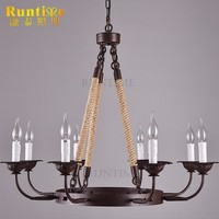Taobao Retro Hemp Rope Hanging Lamp