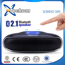 Shenzhen speaker manufacturer ce rohs pill bluetooth speaker with touch button and mic